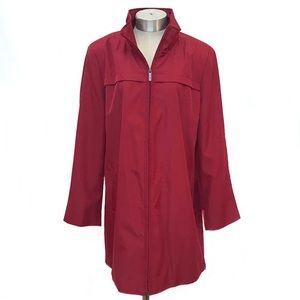 CALVIN KLEIN Cherry Red Mid-Length Rain Coat XL